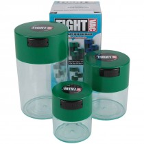 Tightvac Nested Set with Clear Body and Forest Green Cap