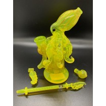 78 Glass Lemon Lime Drop Octopus